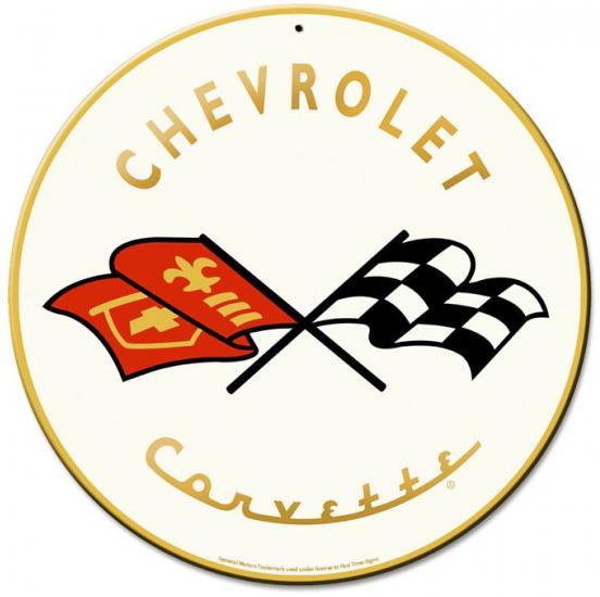 Corvette Man Cave Signs : Classic chevrolet corvette metal sign man cave garage shop