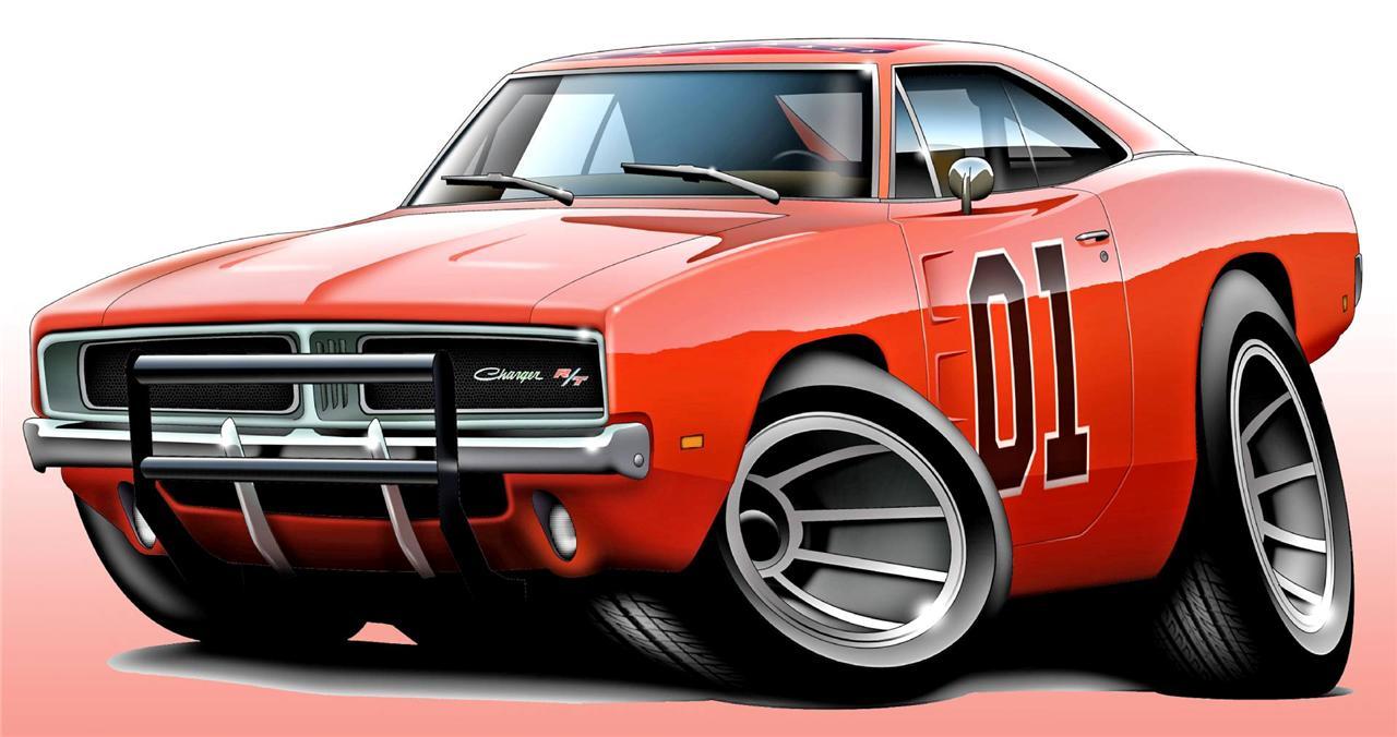 Kindig It Design Logo >> General Lee Dodge Charger Muscle Car Art Print NEW | eBay