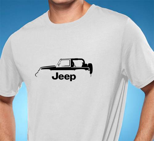 Jeep Wrangler X Classic Outline Design Tshirt NEW FREE SHIPPING - Jeep t shirt design