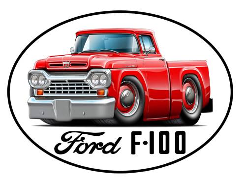 Old Ford Trucks Decals : Ford f classic truck vinyl sticker decal new free