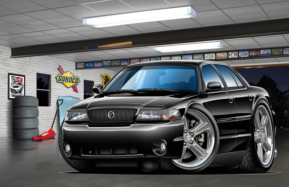 2003 2004 mercury marauder muscle car art print new ebay. Black Bedroom Furniture Sets. Home Design Ideas