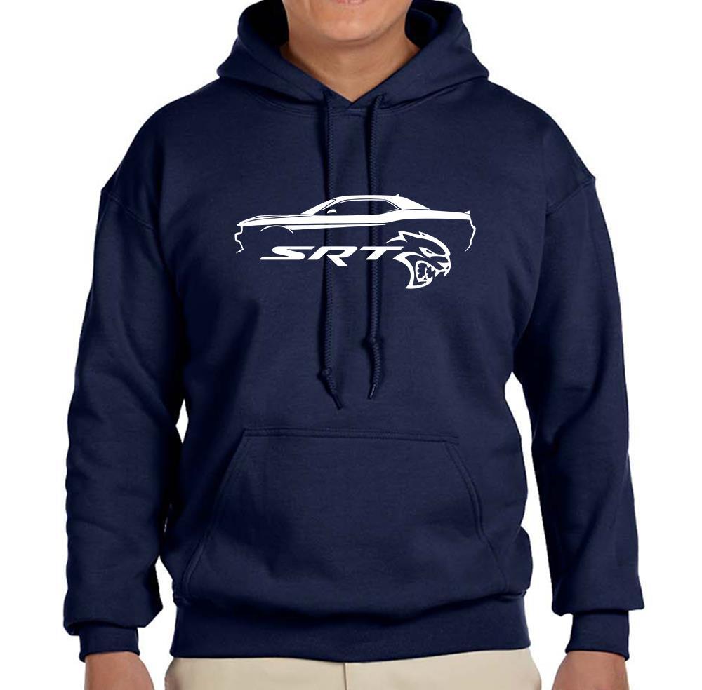 Dodge Challenger Srt Hellcat Classic Outline Design Hoodie