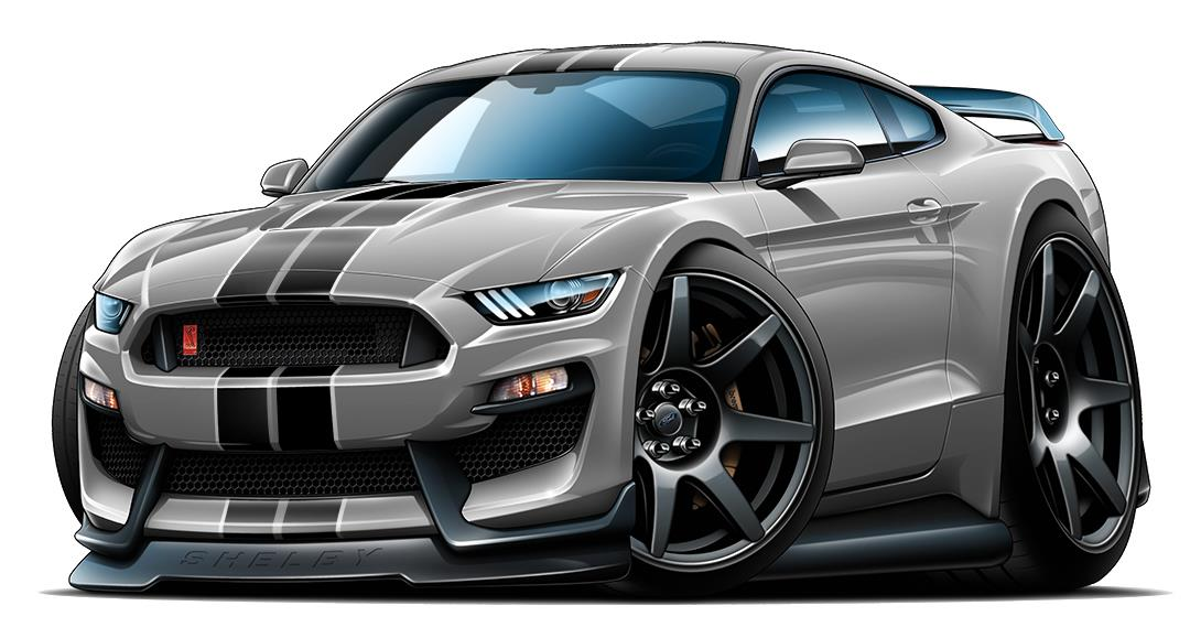 2016 2017 Shelby Gt350r Mustang Car Toon Wall Art Graphic