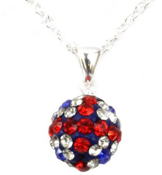 FREE-SHIPPING-Shamballa-Pendants-Silver-Necklace-Many-Colour-Czech-Crystal-Disco