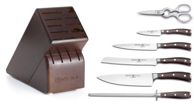 Wusthof ikon blackwood 7 piece kitchen knife set made in for Wusthof kitchen essentials set 7 piece