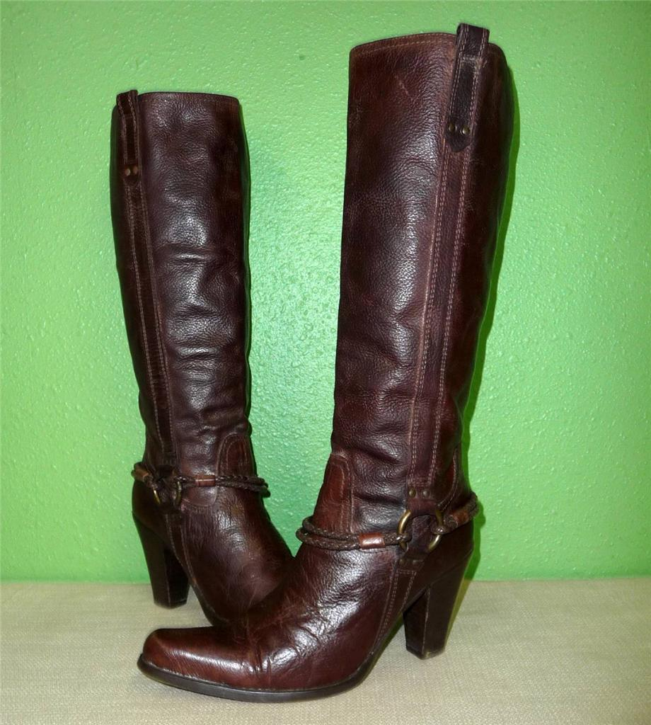 Cool New Womens YA3 Brown Riding Knee High Cowboy Boots Sz 6 To 11  EBay