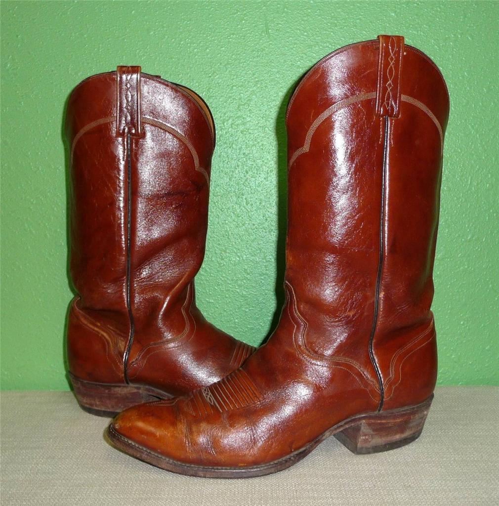 vtg el dorado handmade brown leather western cowboy work