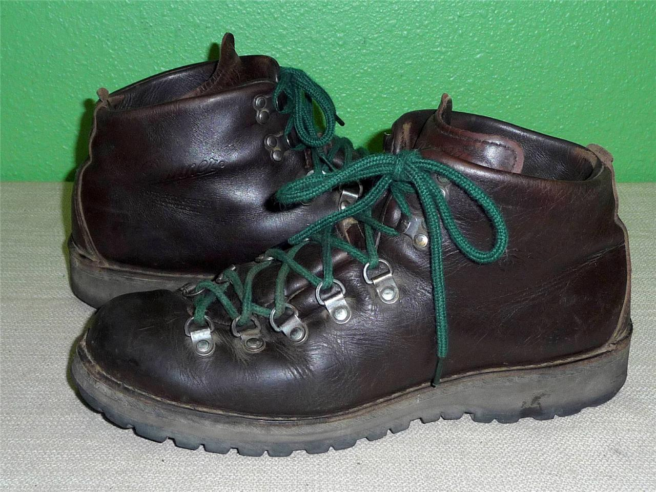 vtg danner mountain light ii leather hiking backpacking hunting boots. Black Bedroom Furniture Sets. Home Design Ideas