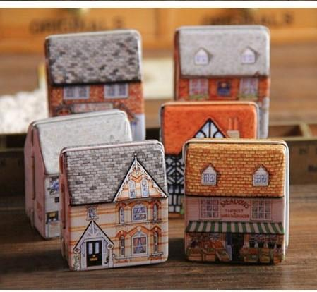 1x-Lovely-Mini-Full-Painted-Small-House-Tin-box-Jewelry-box-6-option