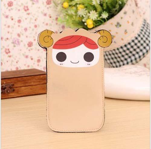 1pc Korea Cute Lolicon PU Leather Mobile Phone Case Protective Cover Purse