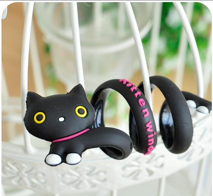 1pc Cute Style Lovely Animal Earphone Cable Wire Clip Long Wrap Organizer