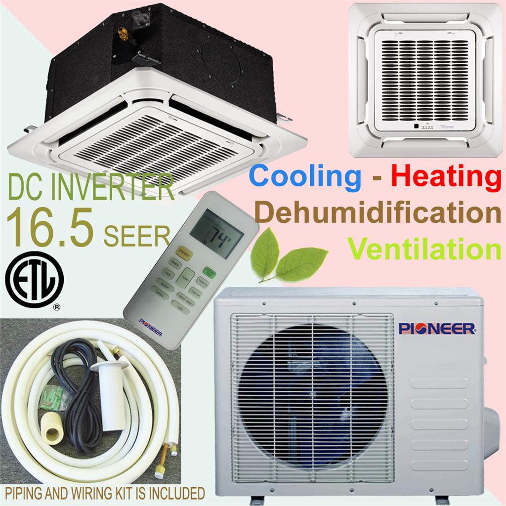 Brand Ceiling Cassette Ductless Split Air Conditioner / Heat Pump #86863A