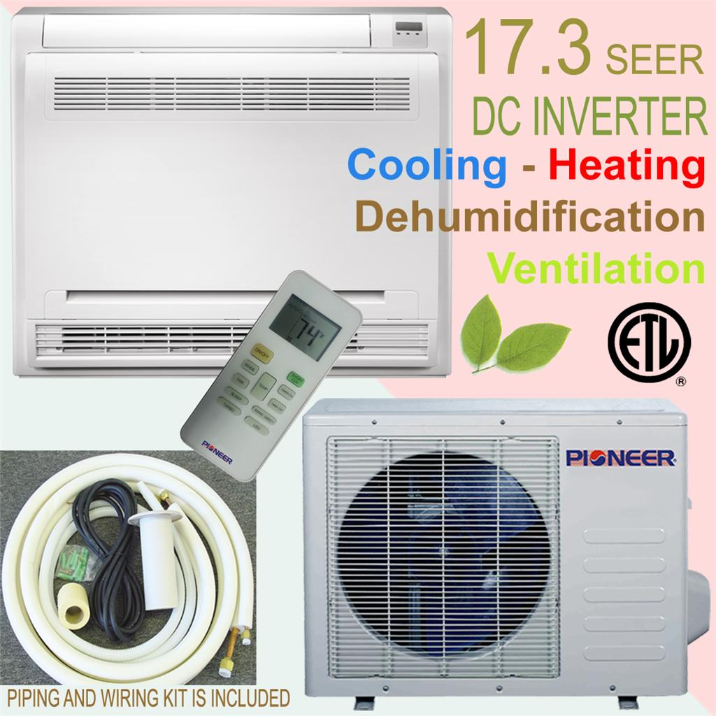 Brand Floor Console Type Ductless Split Air Conditioner / Heat Pump #BF0C0C