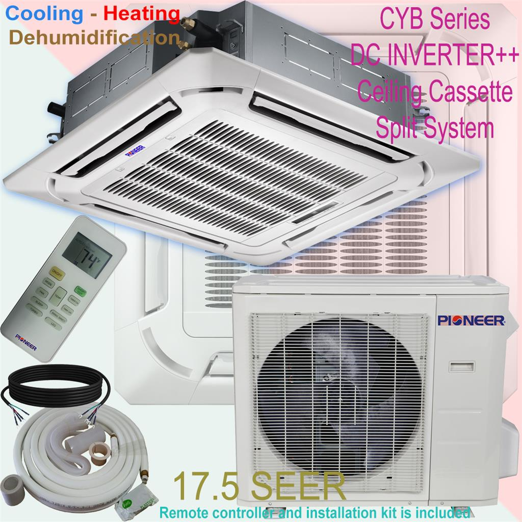 #A02B77 36000 BTU 3 Ton PIONEER Inverter Ceiling Cassette Ductless  Brand New 11391 Ceiling Cassette Air Conditioner images with 1024x1024 px on helpvideos.info - Air Conditioners, Air Coolers and more
