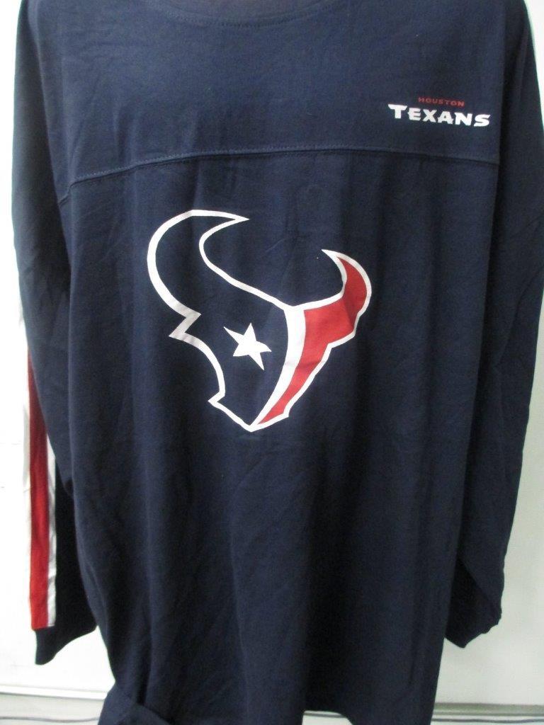Houston Texans Big Mens Long Sleeve T Shirt 2xl 3xl 5xl