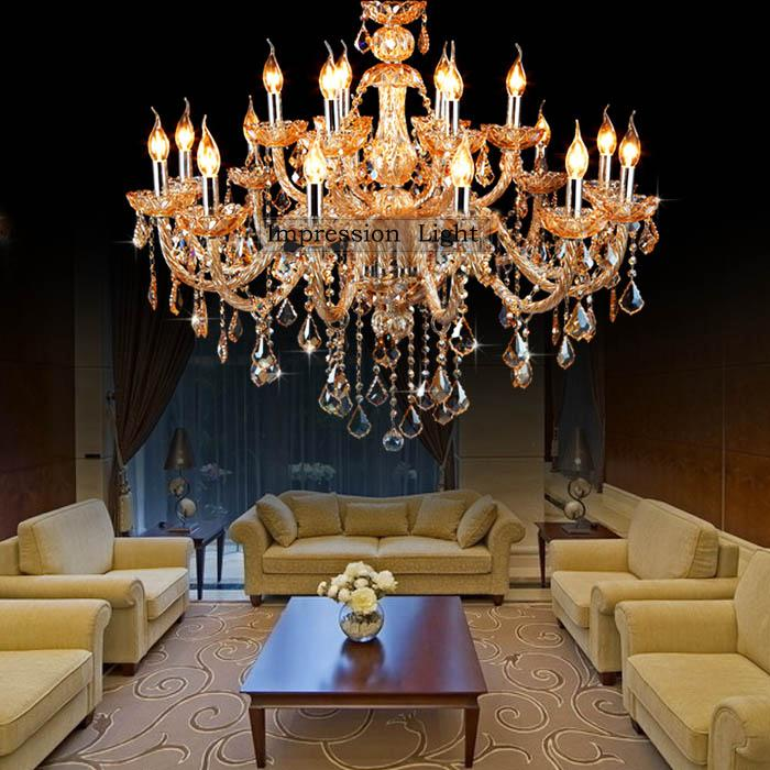 Luxury candle crystal ceiling light bedroom dining room for Dining room 5 light chandelier