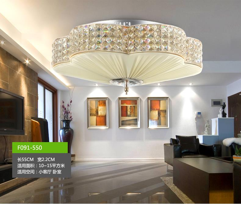 Luxury led crystal flower lights chandelier ceiling light for Ebay living room lights