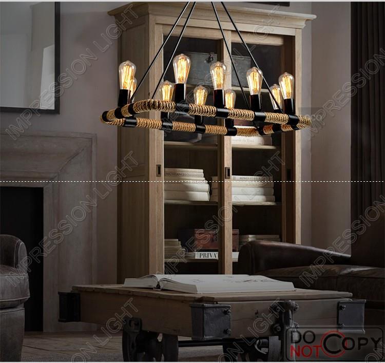 vintage led rope lights chandelier ceiling light bedroom