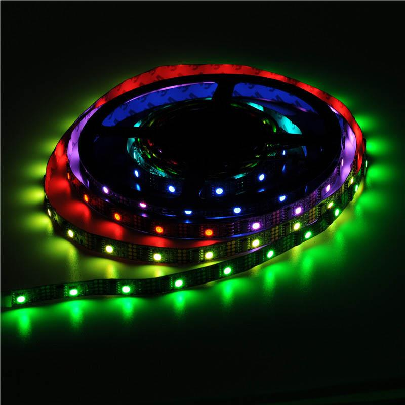 5m ws2801 160leds 5050 rgb strip individuell adressierbare 5v muti farbe licht ebay. Black Bedroom Furniture Sets. Home Design Ideas