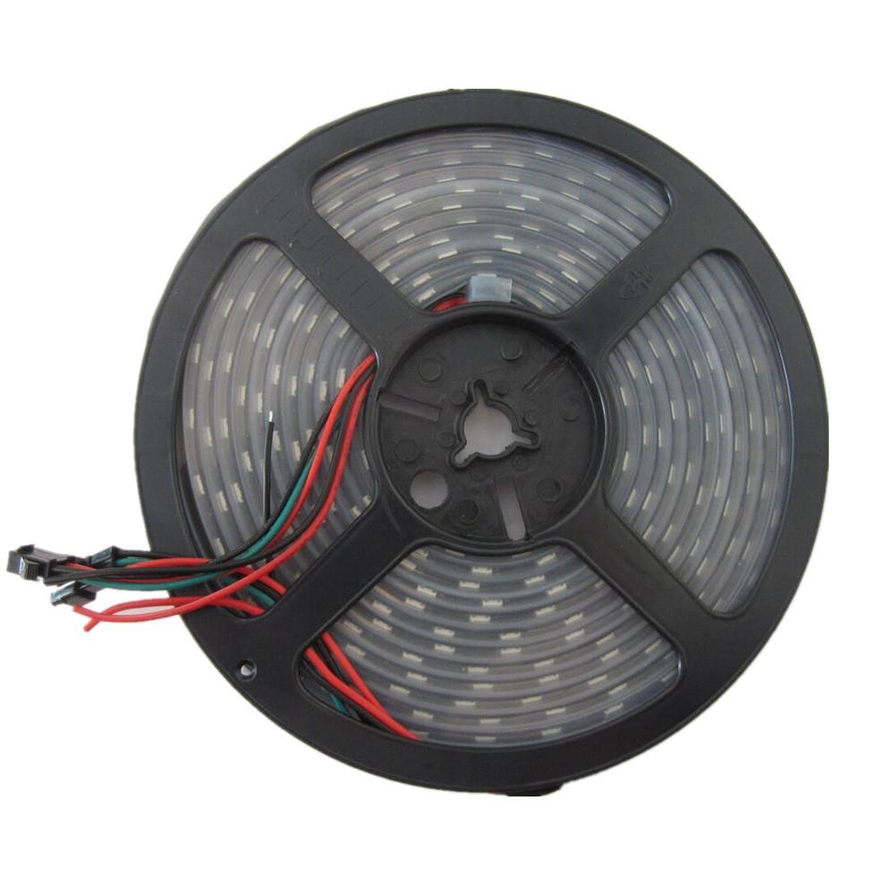 led streifen licht fixel ws2812b ws2811ic 30leds m 60leds m 5050 smd rgb 5v dc ebay. Black Bedroom Furniture Sets. Home Design Ideas