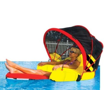 New cabriolet swimming pool lounger canopy inflatable - Swimming pool floating lounge chairs ...