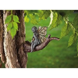 New Outdoor Resin Kissing Fairy Angel Statue Lawn Garden