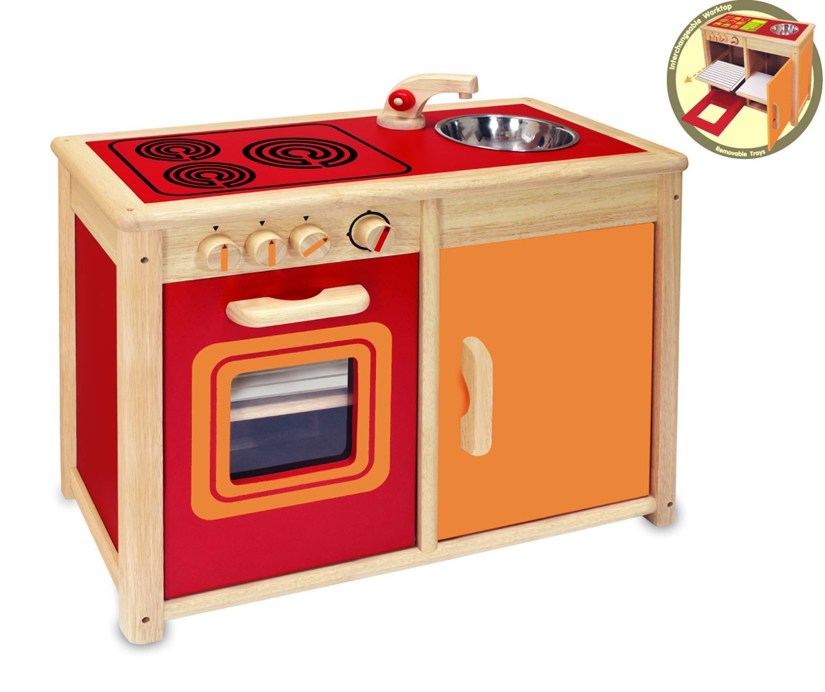 Kids Wooden Pretend Kitchen | eBay