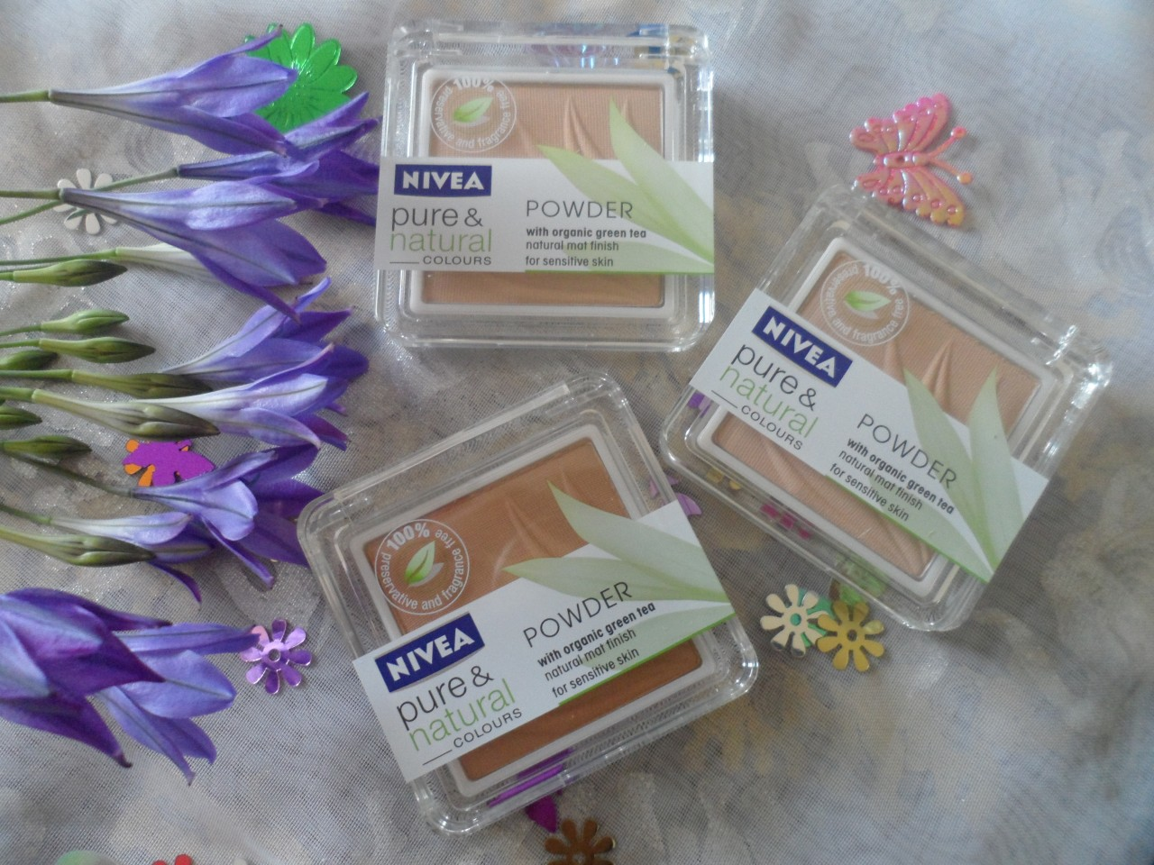 NEW Nivea Pure and Natural Face Powder with Organic Green Tea for ...