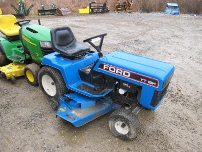 ford yt 18h lawn and garden tractor runs good ebay