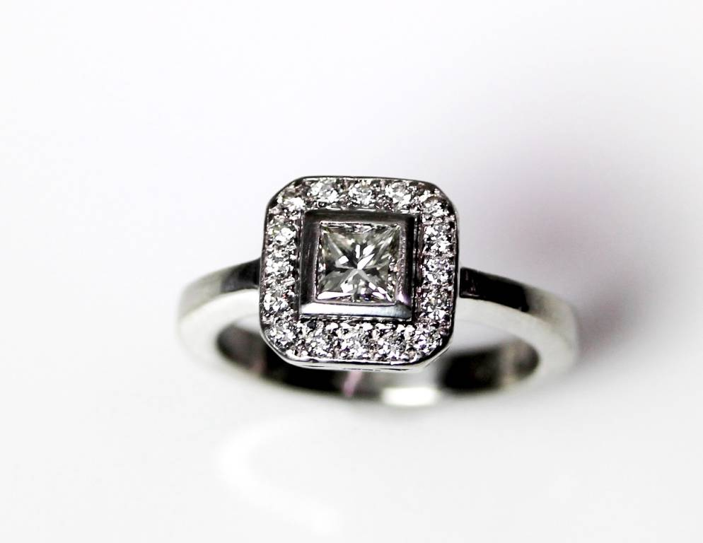 65ct diamond platinum princess cut halo engagement ring for Layaway wedding rings