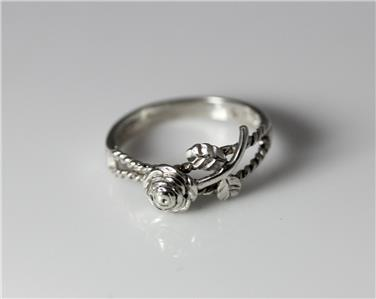 Sterling Silver Southwestern Rope Amp Rose Flower Ring By