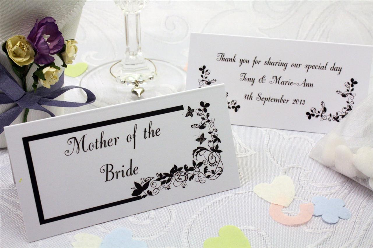 Pc037 personalised wedding table guest name place cards for Name place cards wedding