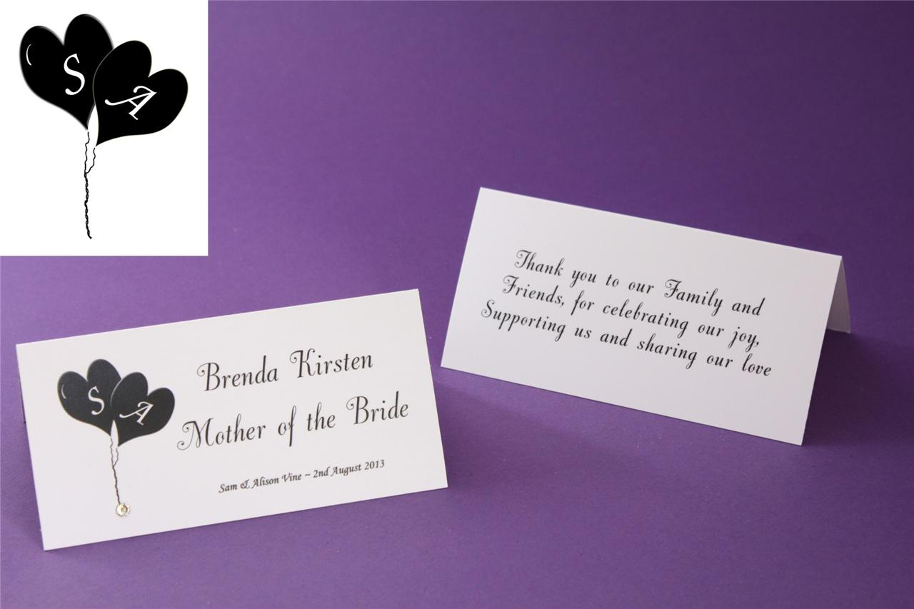 Pc039d personalised wedding guest table name place cards for Table place cards