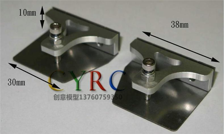 CNC Trim Tabs 38mm X 30mm set for rc boat