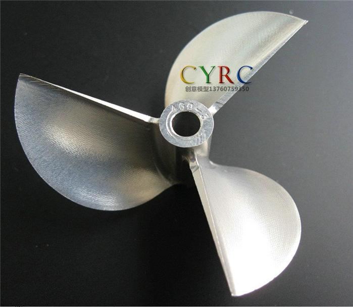 CNC Turn Left 3 Blades Φ4.76mm x Φ60mm RC EP Boat Propeller