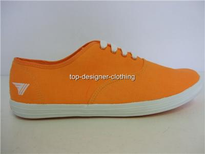 MENS-GOLA-ORANGE-VIBE-CANVAS-TRAINERS-PUMPS-SHOES-UK-7