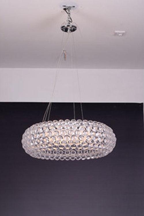 50cm Modern Caboche Acrylic Ball Chandelier Ceiling Light