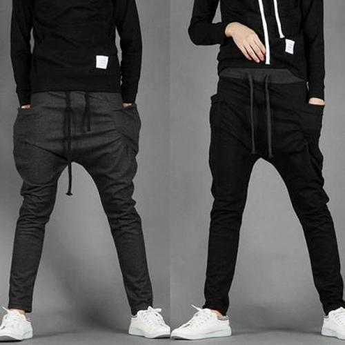 Hot casual sports danse pantalons baggy jogging sarouel hommes us xs l ebay Fashion homme style swag