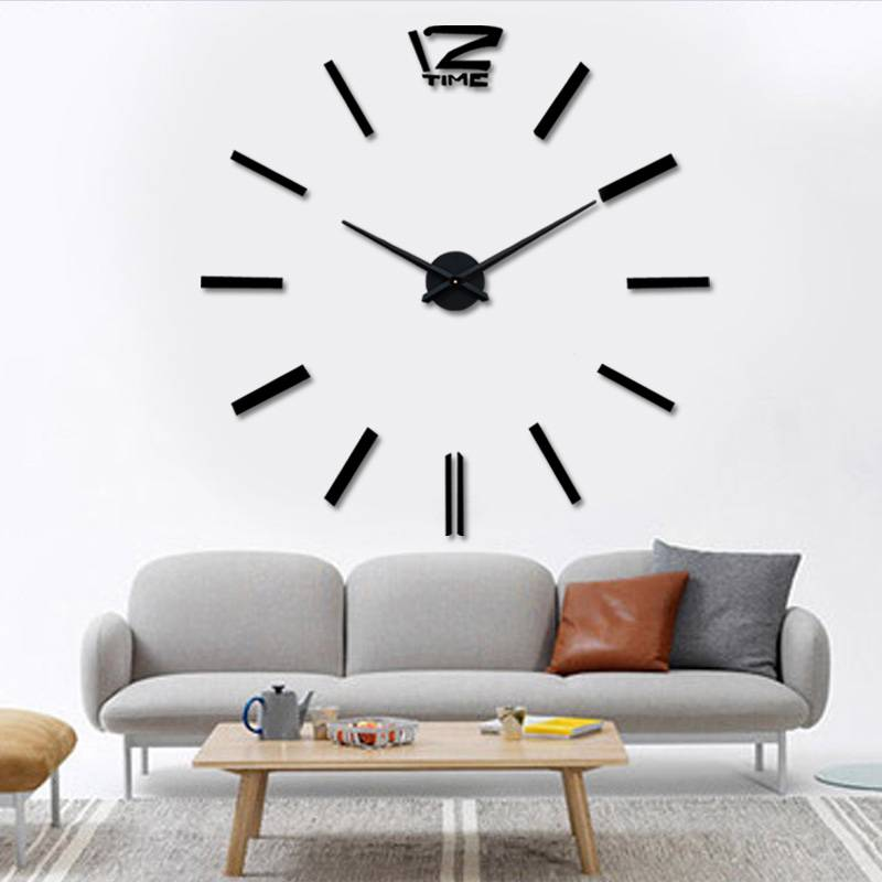 New Luxury DIY 3D Wall Clock Stickers Watch Art Large Home