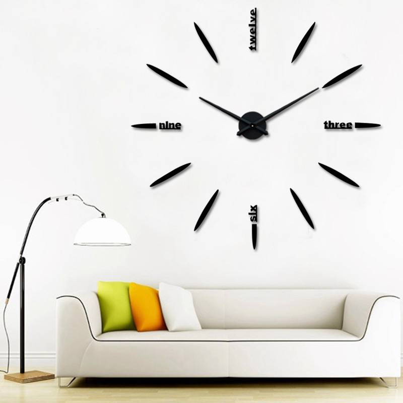 New Art Style Wall Stickers DIY Clocks Home Decor Large