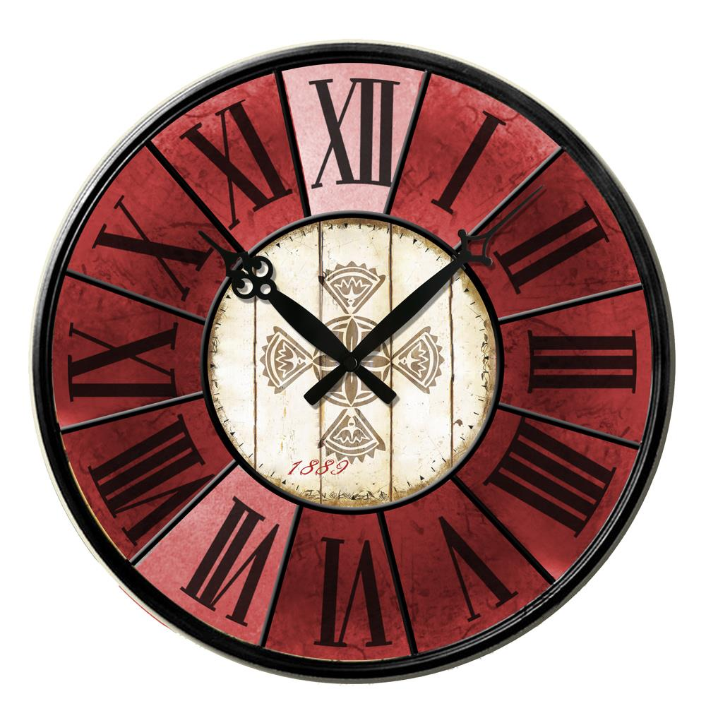 new 38cm large wall clock wooden antique french vintage
