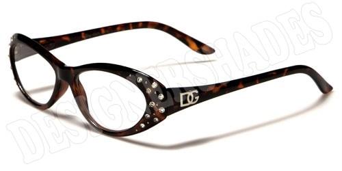Glasses Frames With Diamantes : DG DESIGNER READING GLASSES LADIES WOMENS DIAMANTE ...