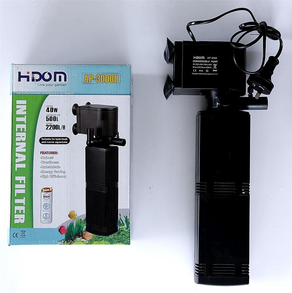 Aquarium Internal Liquid Filter Hidom 2200 litre per hour ...