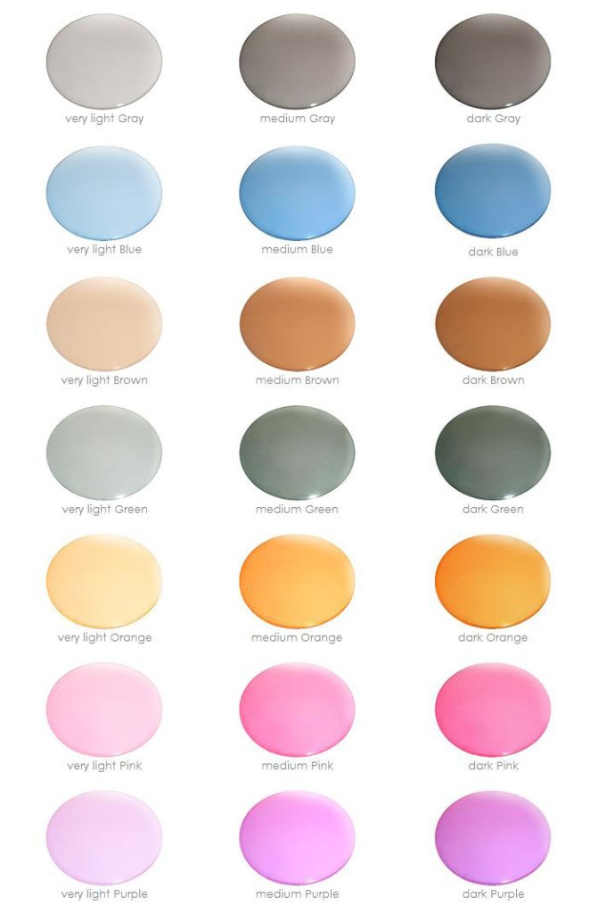 Sunglass Lens Color Chart Gallery Chart Graphic Design
