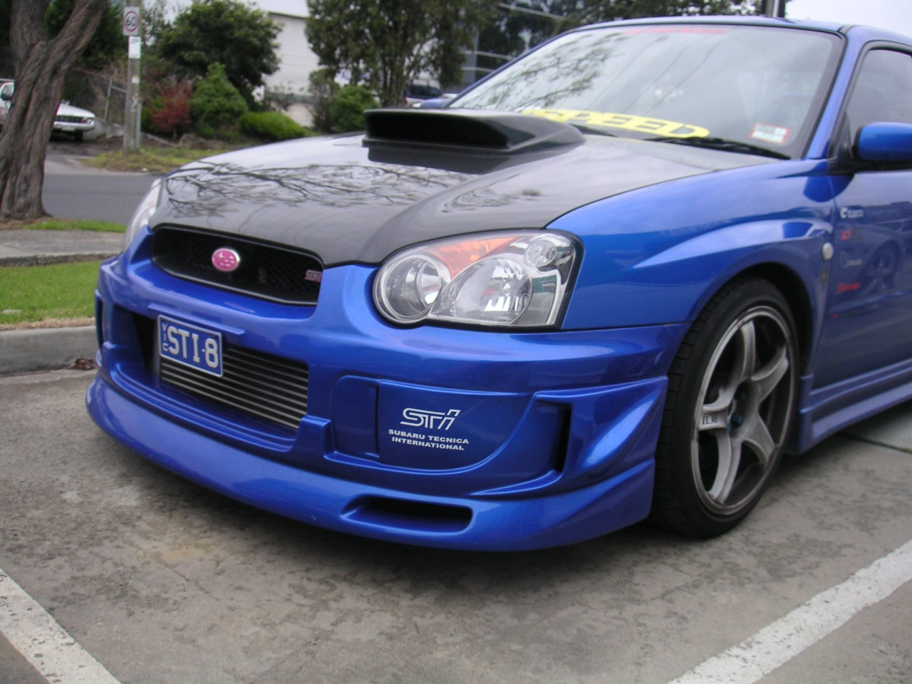 TeamJetspeed-Made-Fiberglass-2003-05-SUBARU-WRX-STI-C-Speed-Style-Front-LIP-NEW