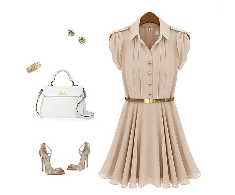New Chiffon Slim Hot Celebrity Style Women Elegant Fashion Dress For 4 Sizes Ebay