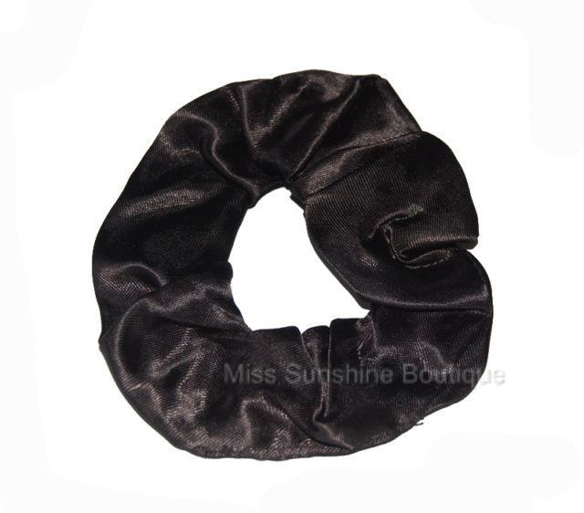 Satin-Scrunchie-Hair-Elastic-in-White-Black-Red-Lilac-Blue-Orange-and-More