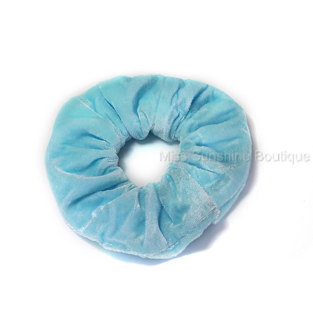 Large-Velvet-Effect-Pastel-Scrunchie-Hair-Elastic-Bobble-Pink-Blue-Green-Orange