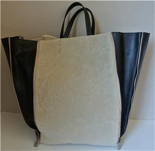 celine black and white bag - celine gusset leather bag