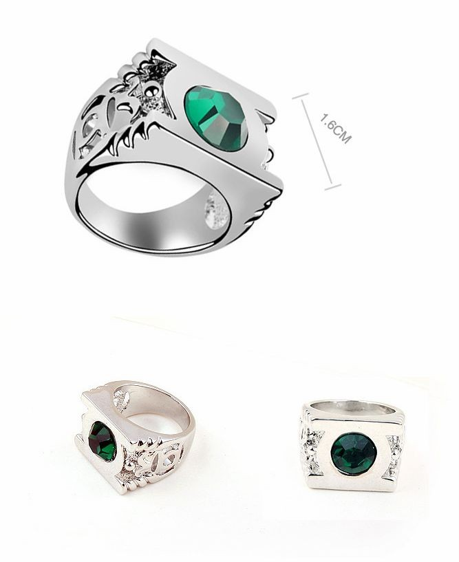 Platinum-Plated-Green-Lantern-Ring-with-Austrian-Crystal